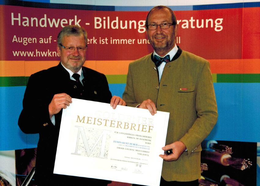Ueberreichung -Goldener-Meisterbrief 2012