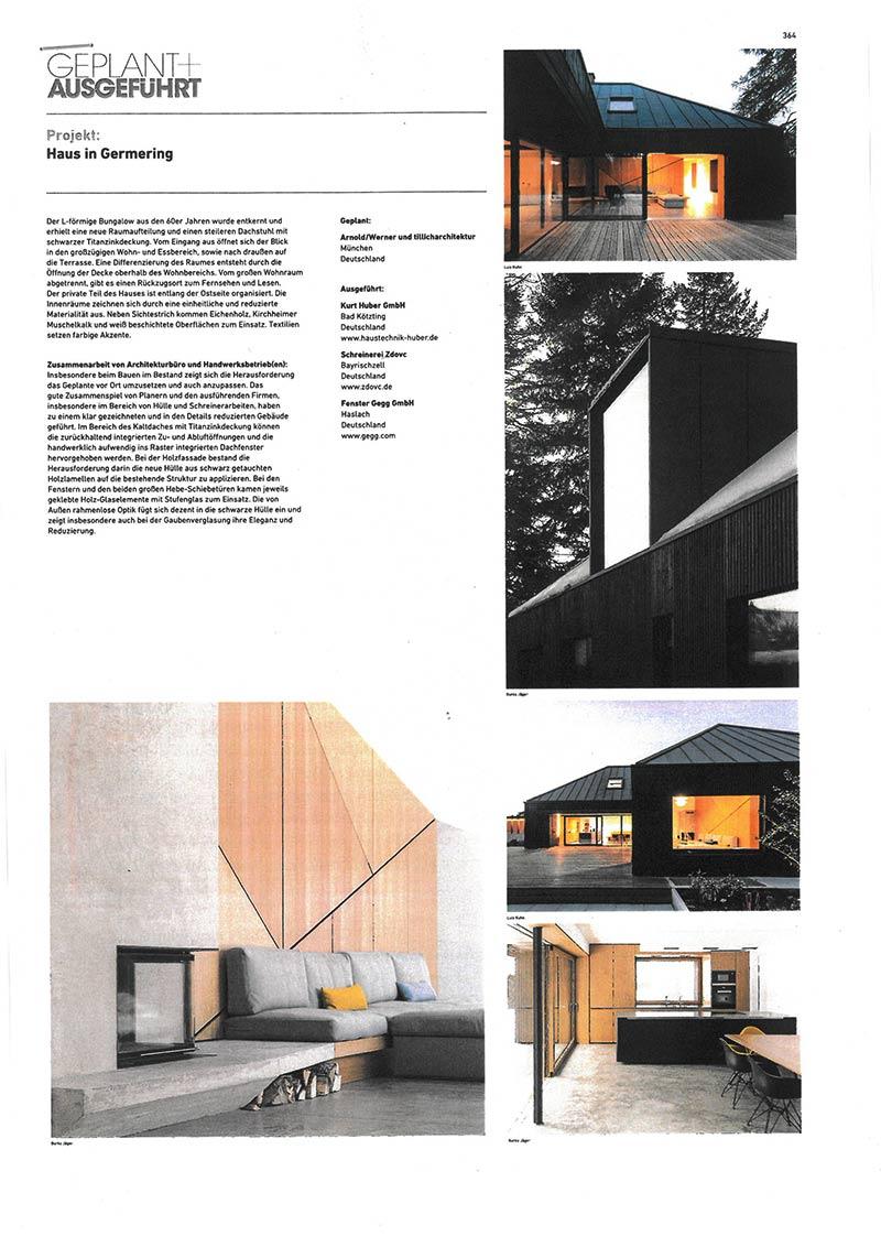 AUSZEICHNUNG - Projekt: #364 - Haus in Germering