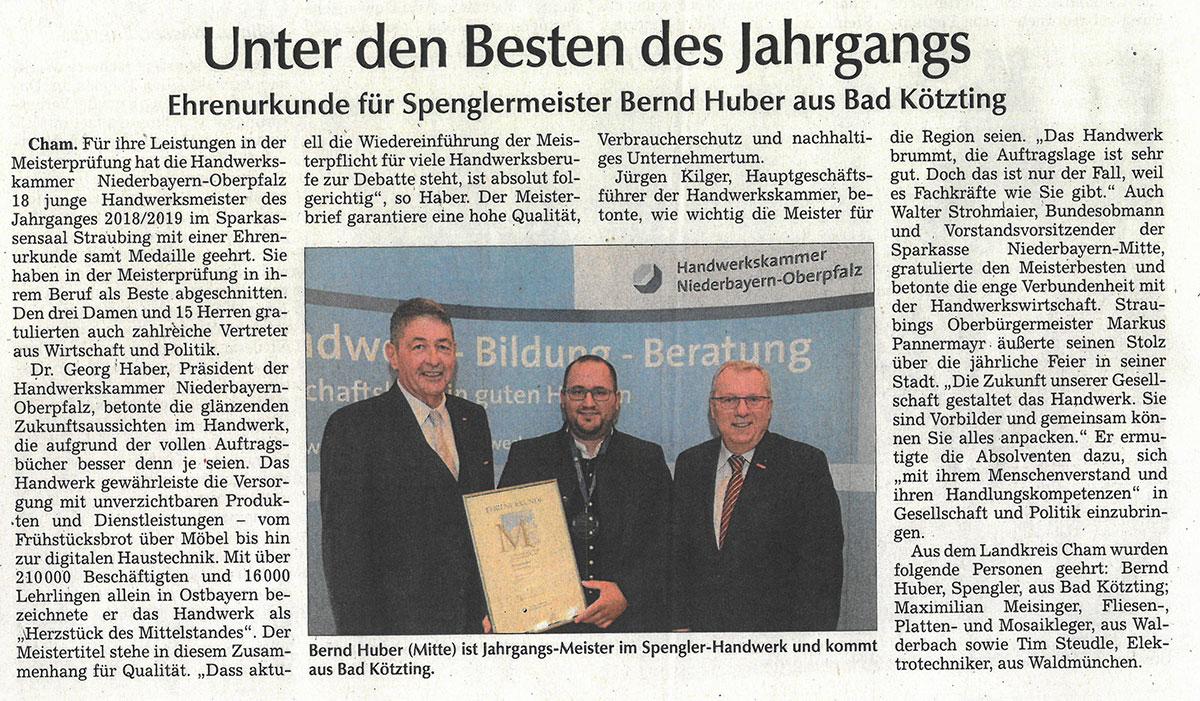 Bayerischer Staatspreis für Bernd Huber